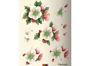 KARTEN und Zubehör / Cards A5 Bastelbuch for 6 3D Christmas cards + 6 Card Layouts