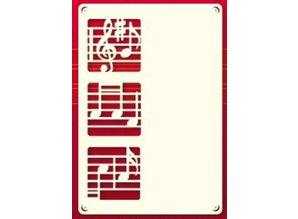 KARTEN und Zubehör / Cards Ein Set von 3 Luxury A6 card layer, mit Musiknoten
