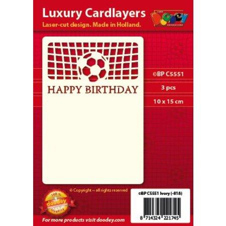 KARTEN und Zubehör / Cards Ein Set von 3 Luxury A6 card layer, Thema: Fussbal