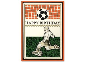 KARTEN und Zubehör / Cards A set of 3 Luxury card layer A6, theme: Footbal