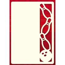 Ein Set von 3 Luxury A6 card layer, Thema: Kegeln
