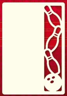 KARTEN und Zubehör / Cards A set of 3 Luxury card layer A6, Theme: Bowling