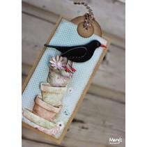 Joy manualidades, punzonado - y en relieve plantilla Springlove: Macetas