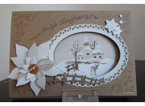 Marianne Design Stansning og prægning skabelon Craftables, 6 ramme Oval