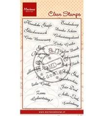 Marianne Design Trasparente Stamp Testo: 14 Wishes in tedesco