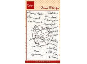 Marianne Design Transparent Stamp Text: 14 Wishes in German