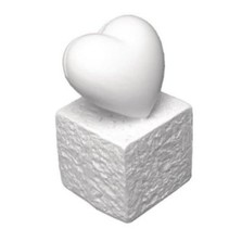 Polyresin Card Holder: Heart, 5.5 cm