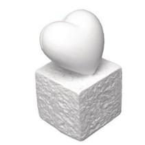 Titular de la tarjeta de Polyresin: Corazón, 5,5 cm