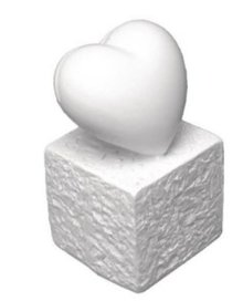 BASTELZUBEHÖR / CRAFT ACCESSORIES Polyresin Card Holder: Heart, 5,5 cm