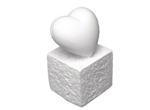 BASTELZUBEHÖR / CRAFT ACCESSORIES Polyresin Card Holder: Heart, 5.5 cm