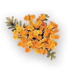 Sizzix Stempling og Embossing stencil, Sizzix thinlits, indstillet til at designe en 3D-blomst