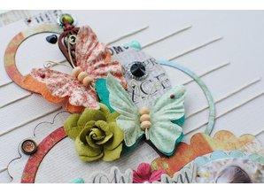 Embellishments / Verzierungen Ornaments, butterflies, Bella Rouge