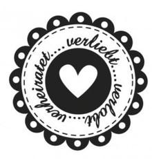 Stempel / Stamp: Holz / Wood Holzstempel, deutsche Text, Thema: Hochzeit