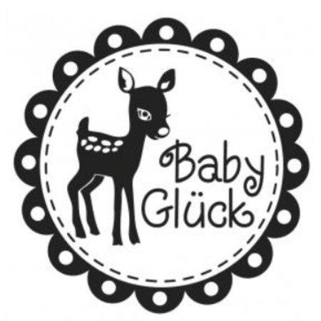 Stempel / Stamp: Holz / Wood Holzstempel, deutsche Text, Thema: Baby
