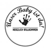Holzstempel, Duitse tekst, onderwerp: Baby