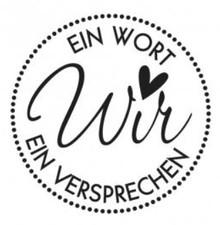 Stempel / Stamp: Holz / Wood Holzstempel, testo in tedesco, argomento: Wedding