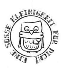 """Stempel / Stamp: Holz / Wood Holzstempel, deutsche Text, """"Eine Süße Kleinigkeit für dich!"""""""