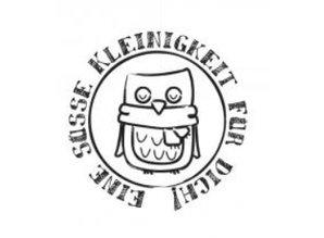 """Stempel / Stamp: Holz / Wood Holzstempel, tyske tekst, """"En sød lille ting til dig!"""""""