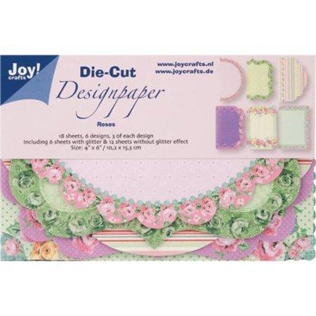 Joy!Crafts und JM Creation Alegría! Oficios Die Cut Diseño Rosas de papel