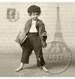 DECOUPAGE AND ACCESSOIRES 4 Designer Servietten im Vintage Design, Jungen