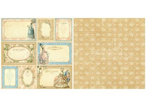 Graphic 45 Graphc 45, Vintage Designer Block, 20,3 x 20,3 cm