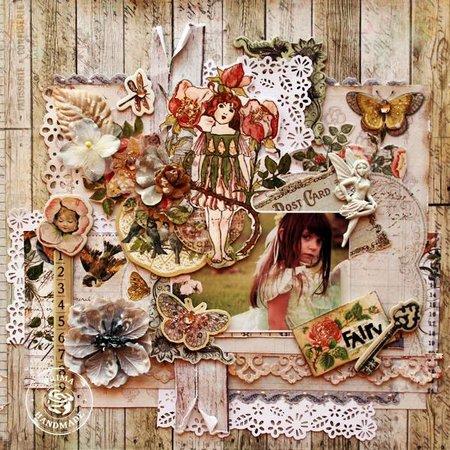 Prima Marketing und Petaloo Stoffe Blumen von Prima Marketing, 4 Stück, Oceana