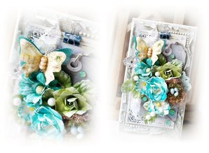 Prima Marketing und Petaloo Fabrics flowers by Prima Marketing, 4 pieces, Oceana