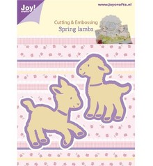 Joy!Crafts und JM Creation Stampaggio e goffratura stencil, 2 agnelli