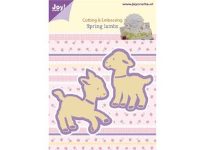 Joy!Crafts und JM Creation Stamping and embossing stencil, 2 lambs