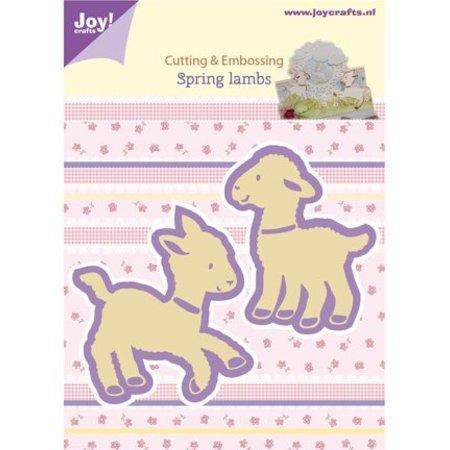 Joy!Crafts und JM Creation Stanz- und Prägeschablone, 2 Lämmchen