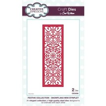 Ponsen en embossing stencil De feestelijke Collection - Snowflake Mini Striplet
