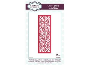 Creative Expressions Punching and embossing stencil The Festive Collection - Snowflake Mini Striplet