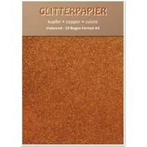 Glitter iriserende papir, A4-format, 150 g, kobber