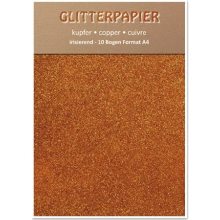 DESIGNER BLÖCKE  / DESIGNER PAPER Papel iridiscente brillo, formato A4, 150 g, el cobre