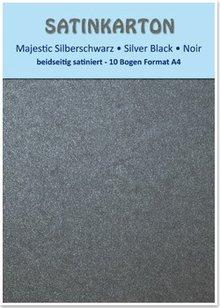 """DESIGNER BLÖCKE  / DESIGNER PAPER Cartone raso A4, a doppia faccia 250gr raso con goffratura. / Mq, """"Majestic"""" nero argento"""