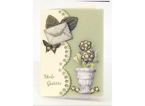 Embellishments / Verzierungen Die cut sheet with garden accessories from card stock, A4