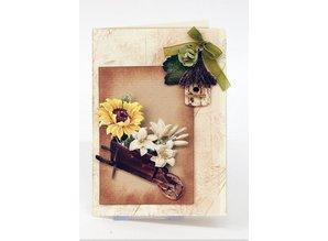 Embellishments / Verzierungen Muere de hojas sueltas con accesorios de jardín de cartulina, A4