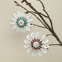Bastelset, rosetones, D: 8 cm, 6 piezas