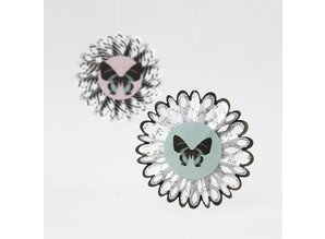 Komplett Sets / Kits Bastelset, rosetter, D: 8 cm, 6 stykker