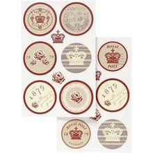 Embellishments / Verzierungen Self motif stickers with a matt surface