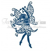 Stamping and punching template, Tattered Lace, punch template Elfe size approx 69 x 118 mm