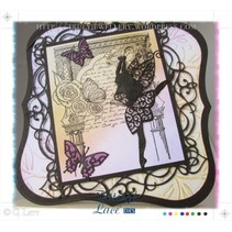 Stamping and punching template, Tattered Lace, Graceful Fairy