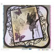 Stanz- und Stanzschablone, Tattered Lace, Graceful Fairy
