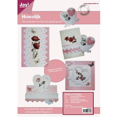 Joy!Crafts und JM Creation Bastelset for at designe bryllup kort