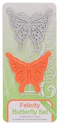 TONIC Punzonatura e goffratura modello da Tonic, Maschera + timbro, farfalla Felicity