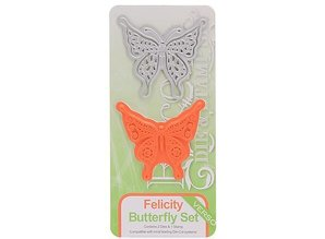TONIC Punching and embossing template from Tonic, Mask + stamp, butterfly Felicity