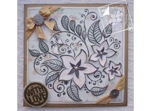 Joy!Crafts und JM Creation Transparent stamps, flowers and leaves