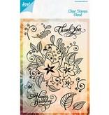Joy!Crafts und JM Creation sellos transparentes, flores y hojas