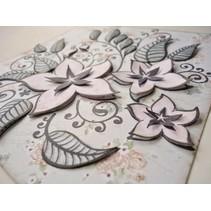 Transparente Stempel, Blumen und Blätter