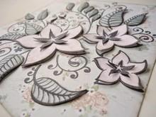 Joy!Crafts und JM Creation Gennemsigtige frimærker, blomster og blade